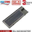 Battery for Dell Latitude D620 D630 D631 D640 M2300 TYPE PC764 TC030 - 58Wh