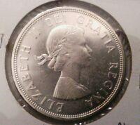 1964 S$1 Confederation Canada silver Dollar Au/Bu