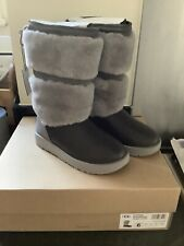 BNIB UGG Reykir Waterproof Grey Snow Boots RRP £250 - Size 4.5