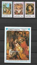 GRENADE N°1847/1849 & BLOC N°225 NOEL 1989  NEUF ** LUXE TOP AFFAIRE !!!!!