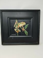 Original Oil on Canvas ~ Tree Frog ~ Framed ~ Signed Betty Mclain