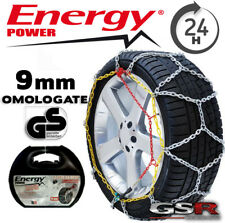 CATENE DA NEVE Auto 9 mm OMOLOGATE per gomme 205 / 55 R16 Energy Power Gruppo 90