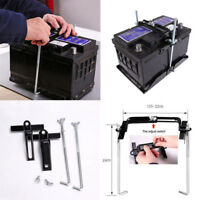 19cm Universal Metal Car Battery Tray Adjustable Hold Down Clamp Bracket Kit