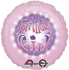 "18"" Amscan Pink Birthday Girl Foil Helium Balloon"