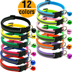 12PCS Small Dog Cat Collars Lot Whole Sale Pet Necklace Nylon Adjustable Collars