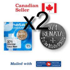 371 x 2 NEW! Renata Silver Oxide Batteries 1.55V - 370, SR920SW, SR69,SR921