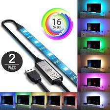2X USB Powered RGB 5050 LED Streifenbeleuchtung für TV Computer Hintergrundlicht