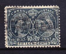 Canada 1897 GIUBILEO SG132 15c Slate-Buono Usato. catalogo £ 120