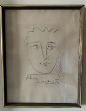 Original Pablo Picasso Pour Roby Etching with COA Signed Framed