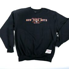 MLB New York Mets Majestic Crewneck Sweatshirt authentic Logo Mens