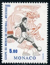 TIMBRE DE MONACO N° 1528 ** SPORT / COUPE DU MONDE FOOTBALL MEXICO / TIR AU BUT