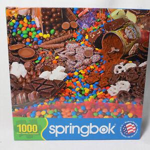 "1000 pc Puzzle CHOCOLATE SENSATIONS 24x30"" Springbok Factory Sealed 33-10661"