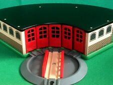 BRIO GRAND TRAIN ROUNDHOUSE SHED & TURNTABLE for THOMAS & Friends Wooden Railway