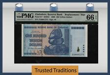 TT PK 91* 2008 ZIMBABWE 100 TRILLION DOLLARS EROTIC 4 DIGIT STAR NOTE PMG 66 EPQ