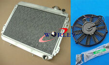 For TOYOTA COROLLA SR5 AE70/AE71/AE72 3A/4A 1.5/1.6 79-83 Aluminum Radiator +Fan