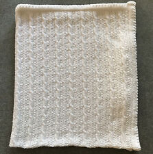 Circo White Baby Blanket Cable Knit Chenille Target Super Soft Security Lovey