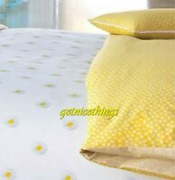 Yves Delorme Unpeu Jaune Yellow White Floral Pillow Shams Cases 100% Cotton New