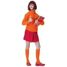 Velma Costume Adult Scooby-Doo Halloween Fancy Dress