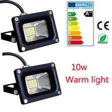 2× LED 10W Flood Outdoor Wash Light Lamp Waterproof High Power Floodlight White