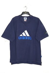 ADIDAS 90'S VINTAGE EMBROIDERED CENTRE LOGO T-SHIRT,RETRO,D6,SIZE:LARGE
