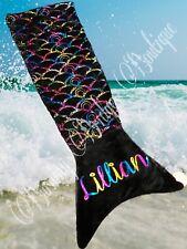 RARE Mermaid Cozy Black Rainbow