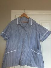 BNWT Alexandra H350 Women's Very Smart Tunic In Grey And Blue Stripes Size 32