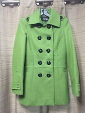 APT 9 Women's Lined Green Pea Coat Double Breasted Outerwear Sz Small