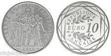 FRANCIA: 10 euro plata 2012  HERCULES - Liberte Egalite  Fraternite SC + France