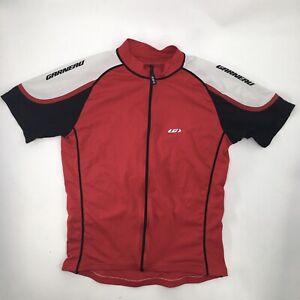 Garneau Mens M Cycling Jersey Shirt Full Zip Red Short Sleeve Pockets