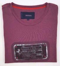 FERRARI Tee SHIRT Mens 2XL Size XXL Red LOGO Horse COTTON T-Shirt MAN Sz MAROON*