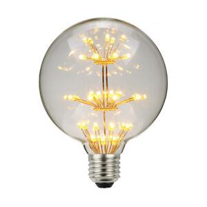 G95 Edison E27 LED Light Bulbs Starry 2200K Warm White Christmas Decoration