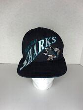 San Jose Sharks Snapback Hat Black Graphics Reebok Hockey NHL