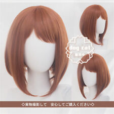 My Boku no Hero Academia OCHACO URARAKA Straight Brown Cosplay Costume Wig Hair