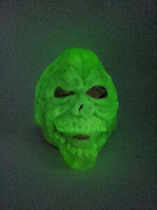 Vintage 1986 Cesar Halloween Mask Skeleton Skull  Glow In The Dark Skeletor MOTU