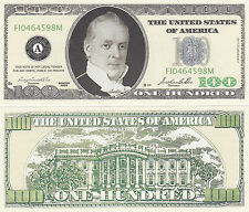 10 Casino Style $100 Collectible Buchanan Novelty Bills Lot