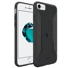 Poetic Karbon Shield【Slim Fit TPU/Carbon Fiber Texture】Case For iPhone 7 Black