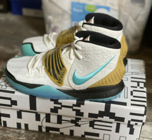 Nike X Concepts Kyrie 6 cv5572-149 Youth sz 5 mummy gold/blue aqua NIB