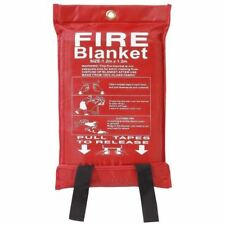 3 x Home Safety Fire Blanket Large 1m X 1m Quick Release Protection Kitchen