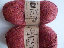 Drops Alpaca Mix 100% alpaca yarn, Light Maroon, lot of 2 (183 yds ea)