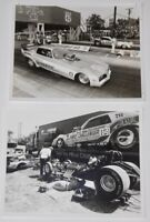 Vtg 1970's 1980's JOHN COLLINS + DON PRUDHOMME FC NHRA Press Photo Lot Of 2