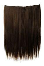 Postiche Large Extensions Cheveux 5 Clips Lisse Marron Doré 45cm L30173-10