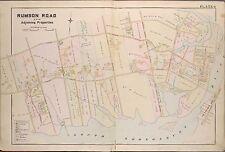 1889 RUMSON ROAD MONMOUTH COUNTY N.J. SEABRIGHT CRICKET CLUB COPY PLAT ATLAS MAP