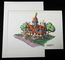 DISNEYLAND c2005 Frameable Artist Rendition Card Goofys Bounce House, Envelope