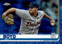 2019 Topps Chrome Blue Refractors #83 Matt Boyd Detroit Tigers