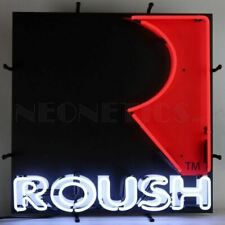 """Roush R Logo Neon Sign * Quality 24"""" x 24"""" Mustang Sign * Ships FREE to USA!"""