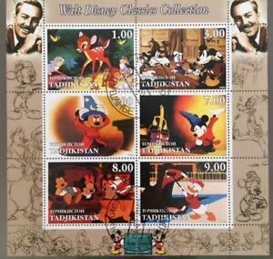 Tadjikistan 2003 M/S Walt Disney Cartoon Animation Mickey Mouse Stamps CTO (2)