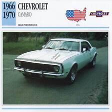 1966-1970 CHEVROLET CAMARO Classic Car Photo/Info Maxi Card