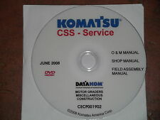 KOMATSU MOTOR GRADERS SERVICE SHOP REPAIR MANUAL CD