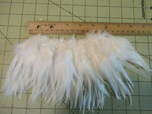 """BLOCK BROOK 5"""" Piece SADDLE HACKLE 4-5"""" FEATHERS FLY TYING MATERIAL WHITE"""