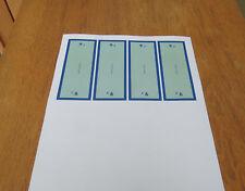 Meccano Vintage Set 9 Small Parts Box Base Label Wraps. Full Set. Reproductions